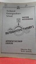 Motor Mechanics Automotive Apprenticeship Course Text Books Strathalbyn Alexandrina Area Preview