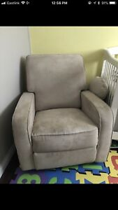 Beige recliner for nursery