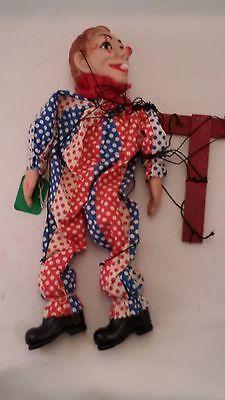 Vintage Clown Marionette Puppet/Doll - Hazelle's - Airplane Control