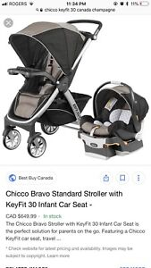 Chicco Stroller & Car Seat Combo - 2 weeks use only