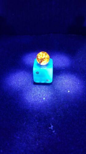 """Sphere Round Very Bright Yooperlite Yooper Stone Lake Superior Glowing Rock 1/2"""""""