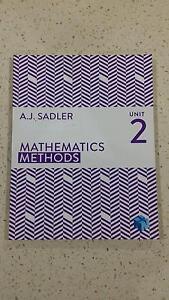 Mathematics Methods Unit 2 (A.J. Sadler) Access code unused East Victoria Park Victoria Park Area Preview