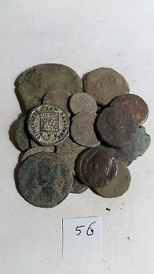 20 uncleaned roman coins