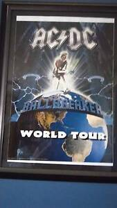 ACDA signed Ballbreaker tour poster with COA Maida Vale Kalamunda Area Preview