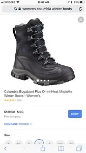Women's Columbia winter boots- size 8 -$60