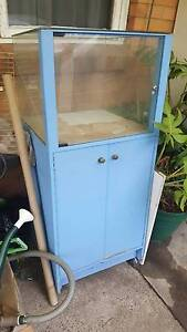 Blue display cabinet case - Tall standing 136 x 60 x 60 cm lockab Noble Park Greater Dandenong Preview