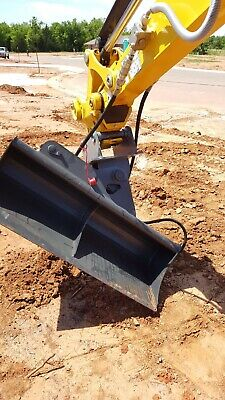 44 Hydraulic Tilt Ditching Grading Bucket For Yanmar Vio 35 Mini Excavators.