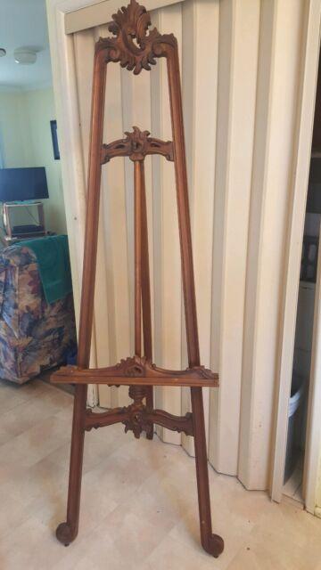 Large Ornate Wooden Carved Display Easel Art Gumtree