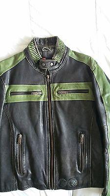 Leather Motorcycle Jacket Mens Diesel Large