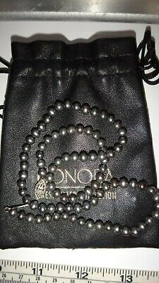 """BLACK FRESHWATER PEARL NECKLACE 18"""" BY HONORA, NEW"""