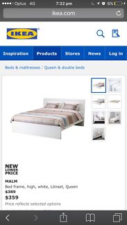 IKEA king bed and Mattress can deliver .