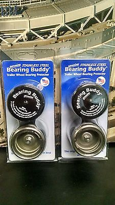 (4) 1980SS w/Bra 1.980 Stainless Steel Boat Trailer Bearing Buddy (2 PAIR)