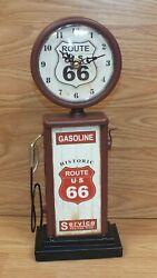 Retro / Vintage Style Collectible Small Desk Top Decor Route 66 Gasoline Pump