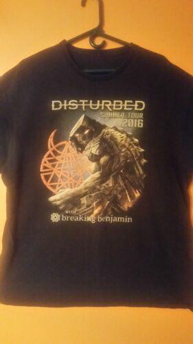 Disturbed Summer Tour 2016 With Breaking Benjamin Concert T-shirt XL
