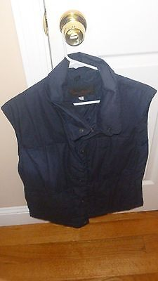 Puffer Vest Navy BLUE MENS  P/SMALL DUCK DOWN