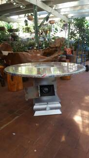 WOOD HEATER, WITH HOT PLATE, HEATED TABLE & SMALL OVEN