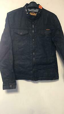 Superdry Denim Biker Jacket Black Medium TD002 RR 06