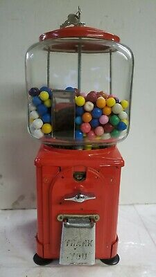 VICTOR TOPPER 1950'S GUMBALL MACHINE 1 CENT COIN OP EXCELLENT CONDITION GLASS
