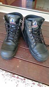 Steel blue ortho work boots size 8.5 Caloundra Caloundra Area Preview