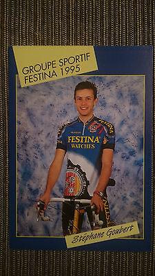 AK o.AG Stephane Goubert Team Festina 1995 Rarität