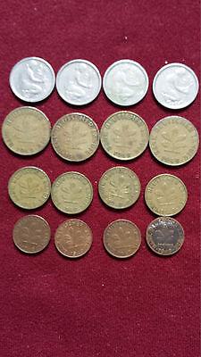 Pfennig Münzen Bank Deutscher Länder, D, F, G, J, Komplettsatz 1949
