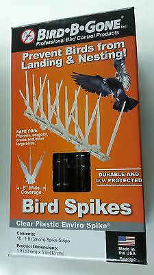 Bird B Gone 10 ft. Plastic Bird Spikes MMENV-PC10 NEW