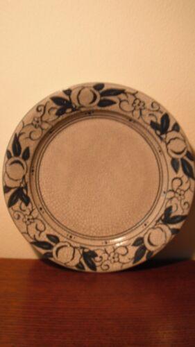 "Antique Dedham Pottery Plate ""Horse Chestnut Pattern"" -8 3/8"""