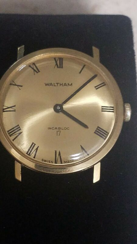 "VINTAGE WALTHAM MENS WATCH""runs well"" frame only"