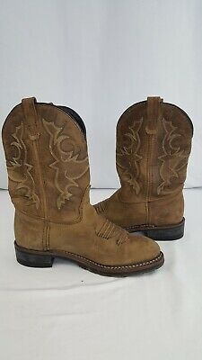 Ice Western Boots - Double H Work Western Cowboy Boots Black Ice DH3599 Size 9 EE Distressed Brown