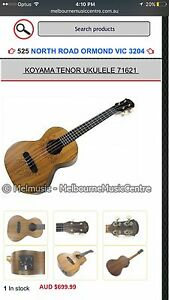 Koyama limited edition concert ukulele Windsor Stonnington Area Preview
