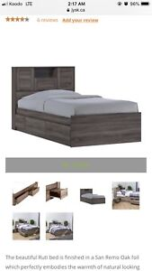Double Bed Frame with Storage