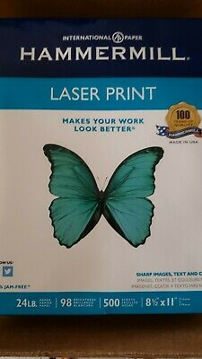 Hammermill Laser Print Paper 24lb 98 Bright 8-12 X 11 - Ream 500 Sheets