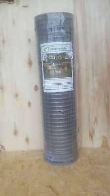 Aviary/Bird/Rabbit/Poultry Galvanised Wire Mesh Roll 1
