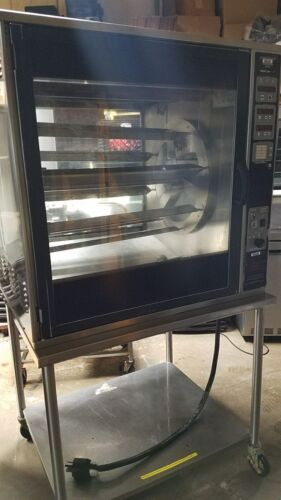 used Electric Henny Penny Rotisserie Oven SCR-8 with Spits and Stand
