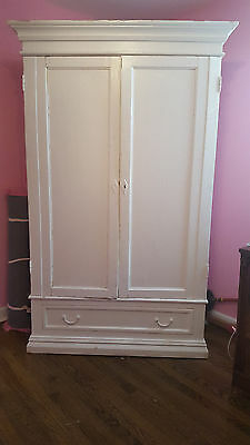 White Wardrobe Armoire Closet Shabby Chic