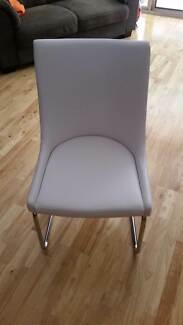 White PU Leather Chair x 1 Caringbah Sutherland Area Preview