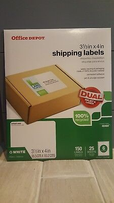 Avery 48464 - Office Depot Brand 3 13 X 4 White Shipping Labels - Pack Of 150