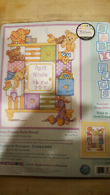 Dimensions Counted Cross Stitch Framed Birth Record DIY Kit