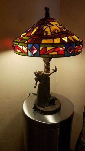 Disney Snow White Seven Dwarfs Stained Glass Lamp LE 3500 by Jody Daily