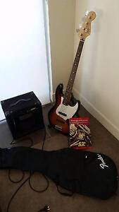 Fender Squire J Bass with amp, leads, case and music book Red Hill Brisbane North West Preview