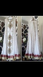 White dress fully embroidered