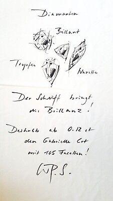"""Original Ehinger Schwarz Stofffahne """"Notiz Diamanten"""" (Schwarzweiß-Druck)"""