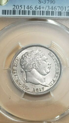 1817 GREAT BRITAIN SHILLING  PCGS MS64+