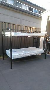 sold Black Metal BUNK BED($80) 2x Mattresses($20each) St Marys Penrith Area Preview