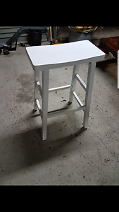 Set of 4 white stools Denistone Ryde Area Preview