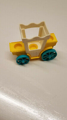 Vintage Fisher Price little people yellow/white Royal Carriage for Castle 993