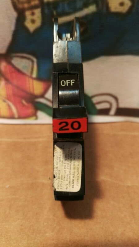 FPE NC120 20 Amp 1 Pole Stab-Lok Type NC Thin Federal Pacific