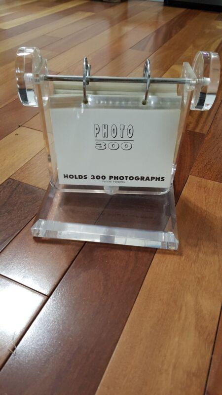 Lucite desktop calendar style picture holder for 300 photos
