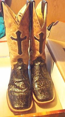 Ferrini Italia leather steel toe women's western boots size10