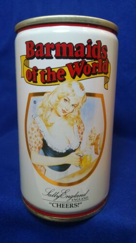 ANCHOR PILSNER BEER BARMAIDS OF THE WORLD SALLY ENGLAND 320ML PULL TAB CAN